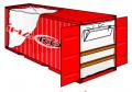 Вкладиш у контейнери морські поліпропіленовий