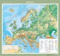 Європа. Фізична карта, м-б 1:5 000 000