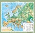 Європа. Фізична карта, м-б 1:5 000 000 (на планках)