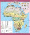 Африка. Економічна карта, м-б 1:8 000 000 (на планках)