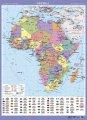 Африка. Політична на картоні лам. на планках, м-б 1:8 000 000