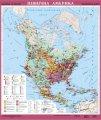 Північна Америка. Економічна карта, м-б 1:8 000 000