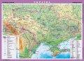 Україна. Фізична карта, м-б 1:1 000 000 (на картоне ламинированная на планках)