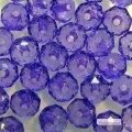 Бусины прозрачные ограненые биконус фиолетовые
