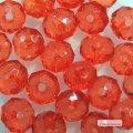 Бусины прозрачные ограненые биконус красные