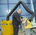 Фильтр передвижной механический MultiFumeCaddie (MFC) для очистки воздуха.