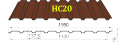 Профнастил HС-20 Тайгер Стил, 0.5 мм