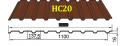 Профнастил HС-20 Тайгер Стил, 0.45 мм, цветной