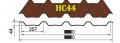 Профнастил HС-44 Тайгер Стил, 0.4 мм