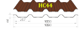 Профнастил HС-44 Тайгер Стил, 0.55 мм