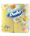 Двухслойная туалетная бумага 4 шт. желтого цвета