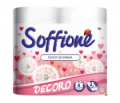 Туалетная бумага Soffione Decoro с розовым тиснением