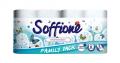 Двухслойная туалетная бумага Soffione Decoro Family с деко-тиснением