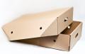 Лоток картонный для замороженной птицы с самосборным дном и крышкой