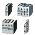 Блок дополнительных контактов Siemens 3RH1911-1GA04, 3RH1911-1HA0, 3RH1911-1FA40, 3RH1911-1FA22,  3RH1921-1DA11, 3RH1921-2CA10, 3RH1921-2CA01, 3RH1921-1CA01 для контакторов типоразмер S00, по низкой цене