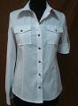 Рубашка женская Сафари с накладными карманами