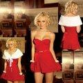 Бархатное платье и накидка E-8417