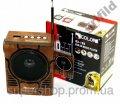 Радиоприемник колонка MP3 Golon RX-188 MIC WOODEN par003024