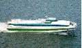 Пассажирский катамаран СУПЕРФОЙЛ-301 снабженное запатентованной системой носовых подводных крыльев и транцевых интерцепторов, с дизельной энергетической установкой и водометным пропульсивным комплексом