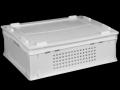 Ящик пластмасовий 600х400х200 (Е2) суцільний перфорований