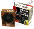 Радиоприемник колонка MP3 Golon RX-188 MIC WOODEN par003024opt