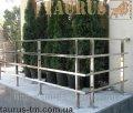 Перила из нержавеющей стали с профильной трубы (квадратной)