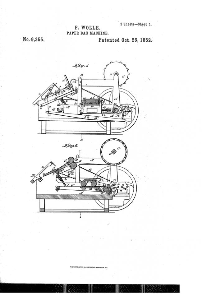 Патент на машину для изготовления пакетов