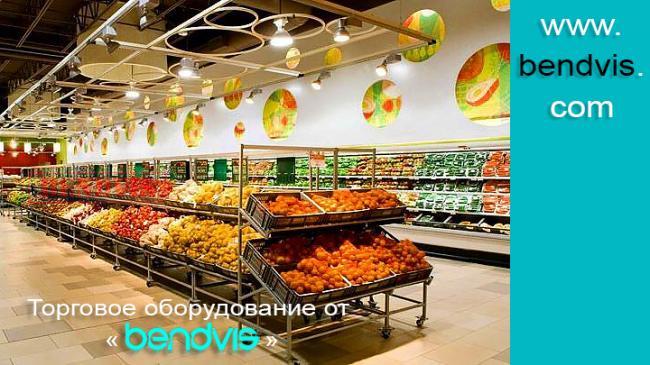 Выкладка овощей и фруктов