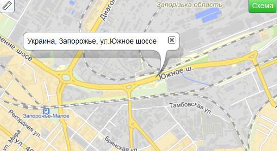 Схема проезда Запорожский