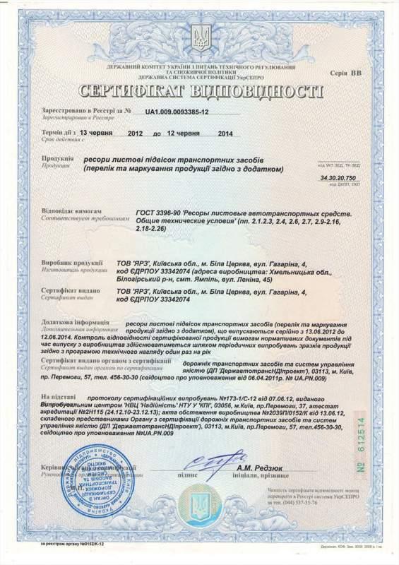 ЯРЗ, ООО (Ямпольский рессорный завод, ООО)