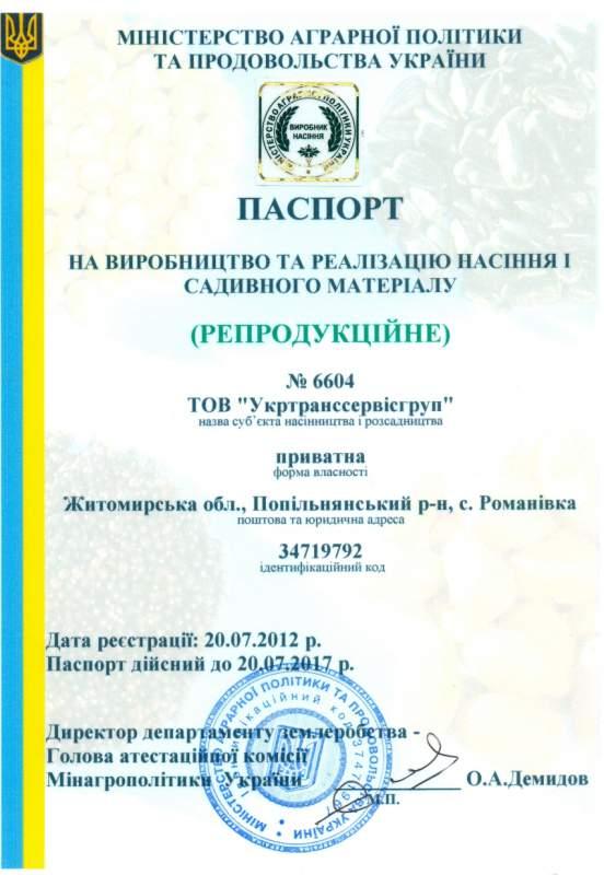 Укртранссервисгруп, ООО