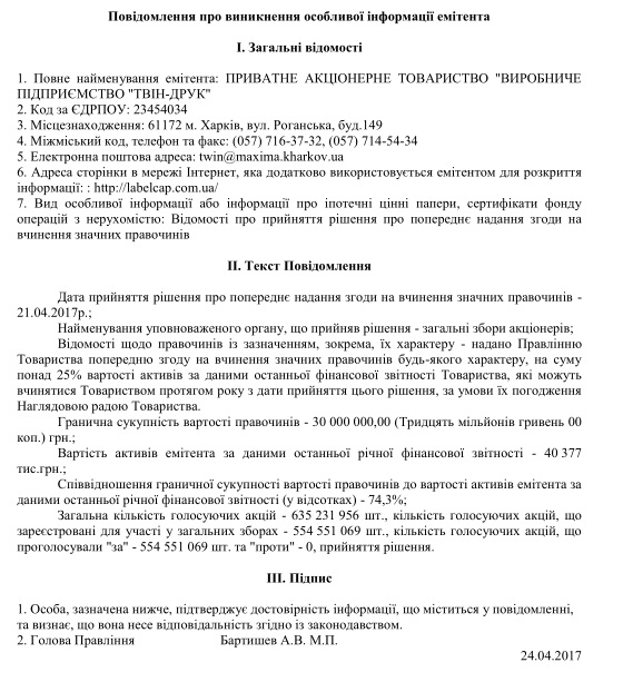 ТВИН-ДРУК, АО ПП