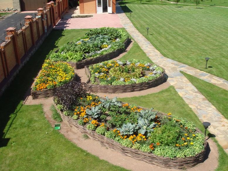 Ландшафтный дизайн огород дизайн