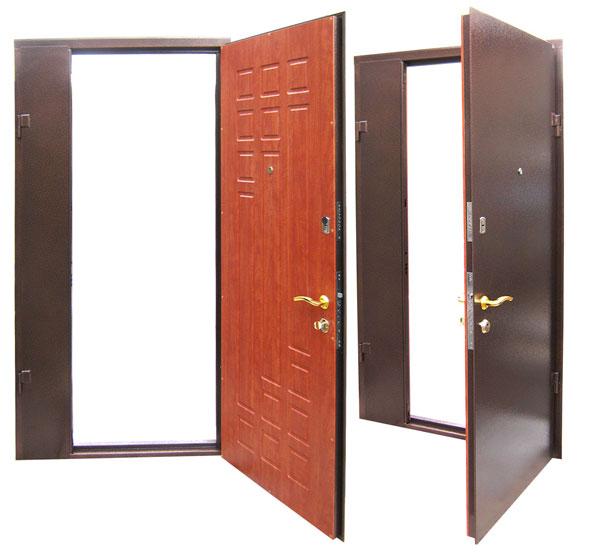 двери железные двустворчатая