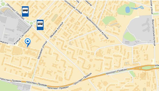 Схема проезда Салон - ателье