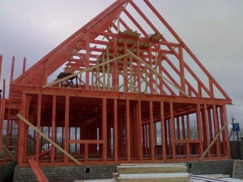 381Каркасное домостроение каркасный дом