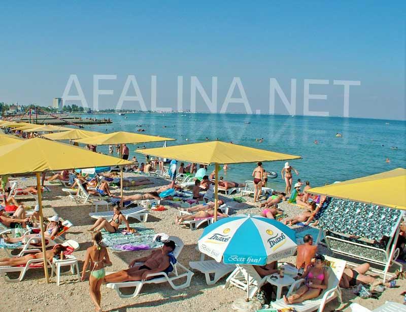 Заказать Пляжи возле гостиницы Афалина (Феодосия)