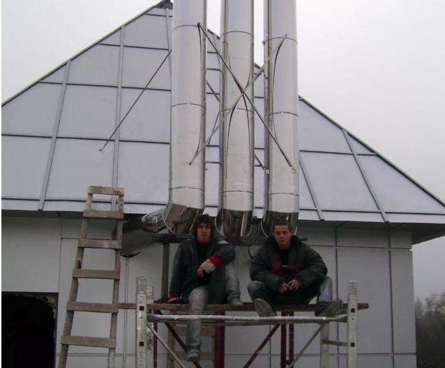 Услуги по сооружению бытовых дымовых труб и дымоходов