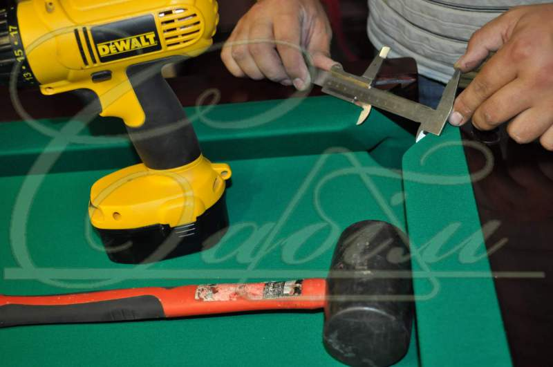 Order Banner of a billiard table