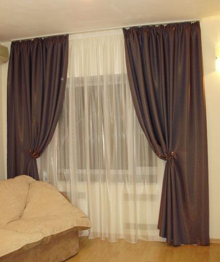 Оформление окон в помещениях шторы