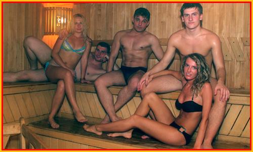 Вызвали русских проституток в сауну76