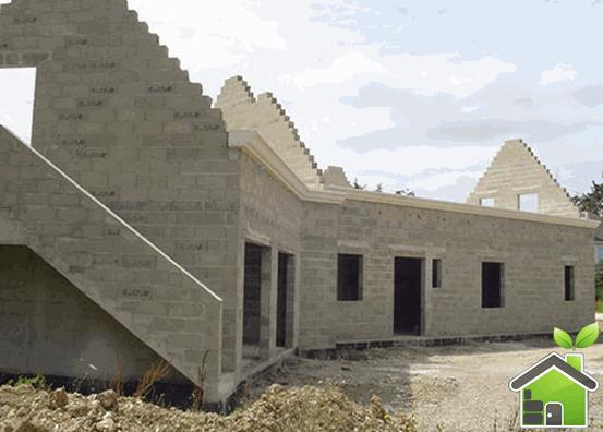Заказать Строительство дома с использованием блоков стеновых бетонных