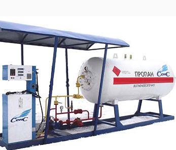 Монтаж модульных газовых станций (газовые колонки)
