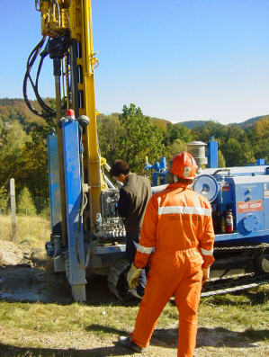 Order Services in drilling and installation of submersible pumps in wells