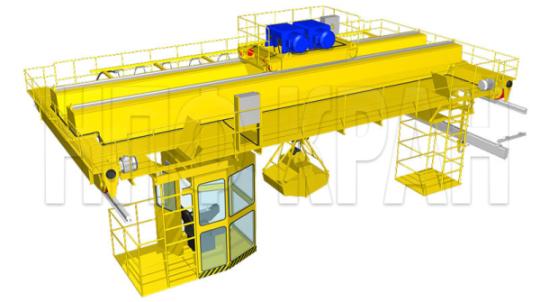 Заказать Производство и монтаж мостовых кранов и грузозахватных механизмов (грейферов), новые технологии