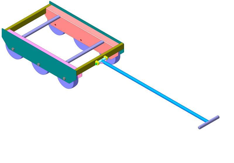 Заказать Конструкторская документация Тележка под ящики (Оборудование вспомогательное для мясокомбината)