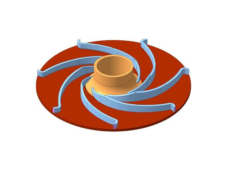Заказать Конструкторская документация Рабочее колесо сварное центробежного насоса