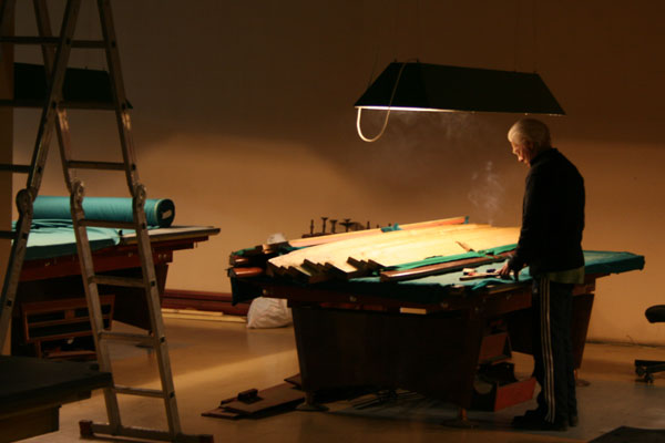 Order Banner of a billiard table. Banner of billiard cloth. Banner of cloth of a billiard table.