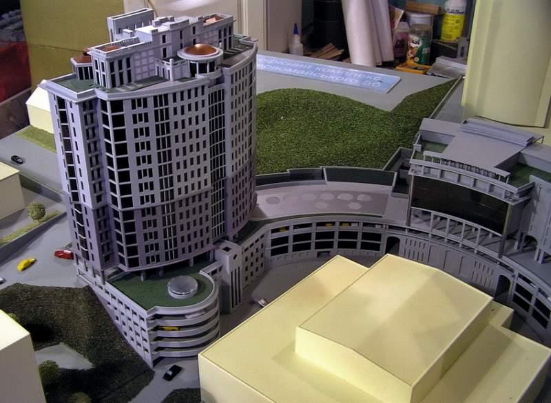 Заказать Презентационный макет многофункционального комплекса по ул. Первомайского в г. Киеве