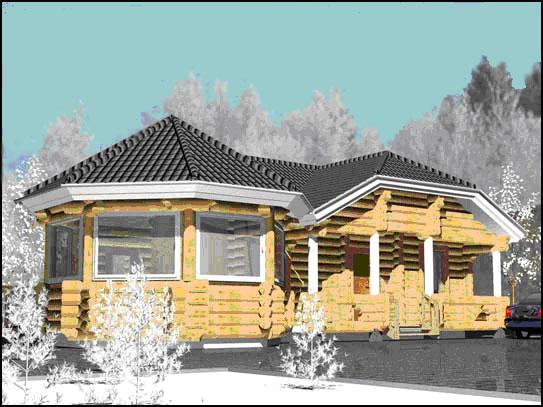 Заказать Строительство домов из оцилиндрованного бревна